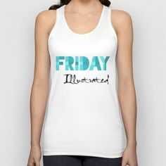 Friday Illustrated Unisex Tank Top Great Love, Gems, Unisex, Tank Tops, Design Products, Shopping, Friday, Women, Night