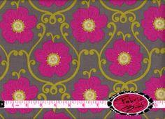 Designer Fabric by the yard ECOGRADA ROSE Fabric by FabricBrat, $7.49