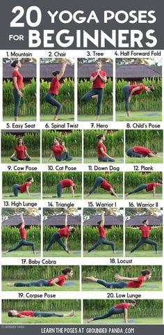 , Yoga poses for beginners: 20 beginner yoga poses for beginners and printable yoga poses to help you workout at home. , 20 yoga poses for beginners (+ free to print) Yoga Fitness, Physical Fitness, Fitness Exercises, Yoga Exercises, Yoga Workouts, Fitness Logo, Muscle Fitness, Fitness Diet, Mens Fitness