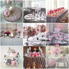 pink and grey wedding ideas | Soft Pink and Grey Wedding Ideas Top Middle LOVE!!!