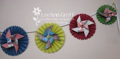 In Color pinwheel banner and other Big Shot projects