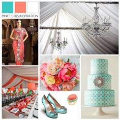 coral wedding reception   Blue Coral White Wedding Inspiration - Pink Lotus Events