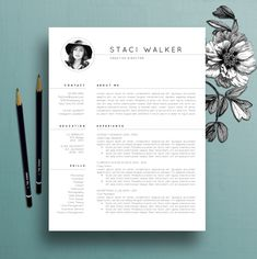 Pages Resume Template For Word  Cv Template  Cover Letter