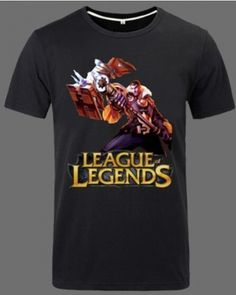 Jayce 3XL t shirt League of Legends plus size casual tee for men-