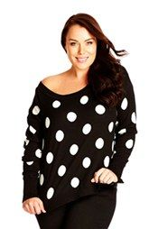 City Chic 'Spot' Pullover (Plus Size)