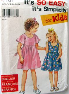 Simplicity 7161 Little Girl's Dress Sewing by OnceUponAnHeirloom