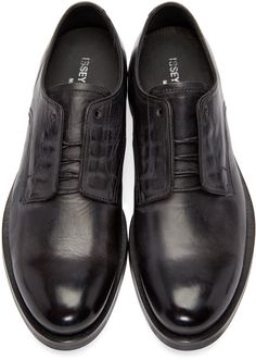 Issey Miyake Men - Black Leather Derbys