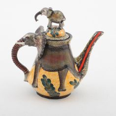 Ardmore Ceramics Elephant Teapot  ... why, of course. An elephant could be a tea pot.