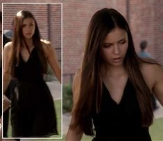 Elena's black dress at the funeral on The Vampire Diaries.  Outfit Details: http://wornontv.net/6643/ #TheVampireDiaries