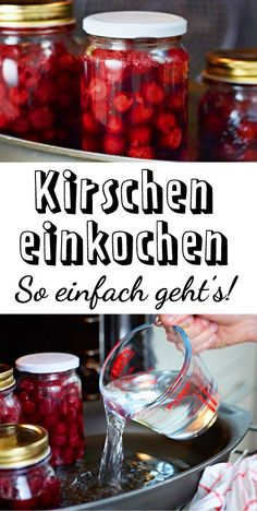 Kirschen einkochen – so einfach geht's boiling down is much easier than expected! In the oven or in a pot – how it works! Healthy Eating Tips, Healthy Nutrition, Healthy Foods To Eat, Clean Eating, Healthy Recipes, High Fiber Cereal, Baking Videos, Vegetable Drinks, Fruits And Veggies