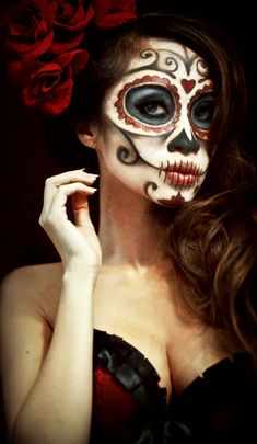 Sugar Skull Day of The Dead Halloween Makeup