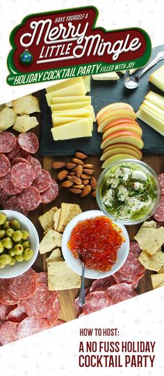 Easy finger foods, festive drinks, and simple decorations all go into this guide on How To Host a No Fuss Holiday Cocktail Party. Simply set out an assortment of salty, savory, and sweet snacks—like meats, cheeses, dips, pita chips, and Lay's Dark Chocolate Potato Chips—to get your annual get-together off to a truly delicious start. After you check out this hostess inspiration, you're sure to agree that there's no better way to celebrate the season than with casual entertaining!