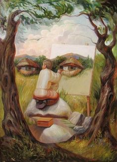 Famous Faces in Optical Illusion Paintings - My Modern Metropolis