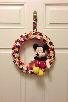 Mickey Mouse Confetti Wreath by LoveNestBoutique on Etsy