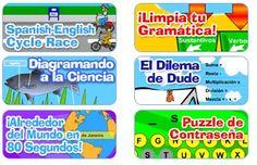 Unos juegos en español de Scholastic.