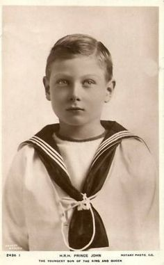 Prince John Charles Francis of  Great Britain & Northern Ireland (1905-1919).... A tragic little life...