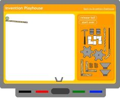 Tinker Ball activity (for simple machines). An online game where students create their own invention Students love this activity!!!