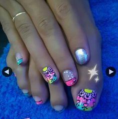 Pretty Toe Nails, Pretty Toes, Cute Pedicures, Toe Nail Art, Nail Ideas, Fingers, Beauty, Finger Nails, Nail Art Galleries