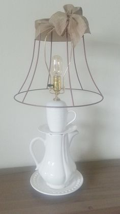 Tea Time Lamp by TrouveCreations1 on Etsy