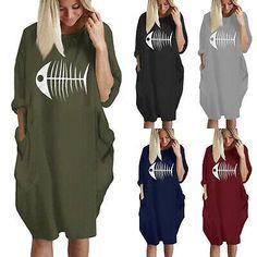 Women T-Shirt Midi Dress Long Sleeve Loose Oversized Blouse Pocket Top Plus Size T Shirt Midi Dress, Long Sleeve Midi Dress, Dress Long, Zara, Knit Sweater Dress, Boho, Mantel, Clothes For Women, Oversized Blouse