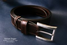 hand made leather belt. bridle leather J.E. Sedgwick