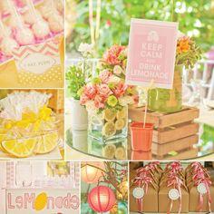 A Pink Lemonade Garden Birthday Party
