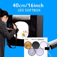 """40*40*40CM 16""""  Photo Studio Lightbox Photo Light Tent Softbox Photography Mini Light Box Kit For Toys Jewelry With Free Gift  Click visit to check price #camera"""