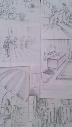 Drawing karakalem çalışmaları