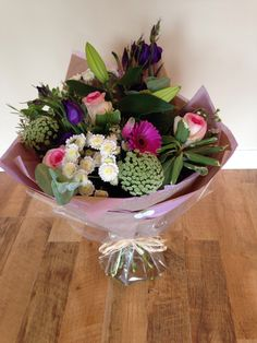 Handtied aqua bouquet