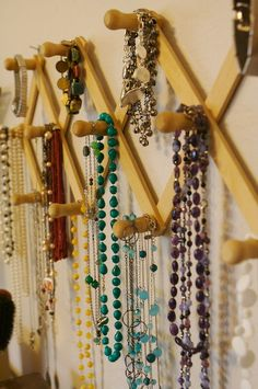 coat rack to hang necklaces