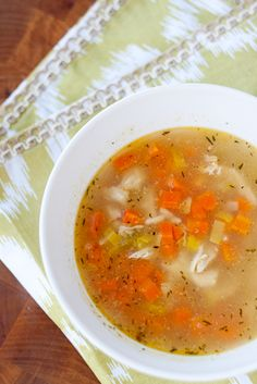 Cold Remedy Chicken Soup - repinning because people I know are getting summer colds.