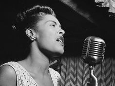 """Billie Holiday ~ Born: April 1915 and Died: July Billie Holiday was an American jazz singer and songwriter. Nicknamed """"Lady Day"""" by her friend and musical partner Lester Young, Holiday had a seminal influence on jazz and pop singing. Nina Simone, Billie Holiday, Miles Davis, Strange Fruit, Cool Jazz, Ella Fitzgerald, Louis Armstrong, Sean Penn, Janis Joplin"""