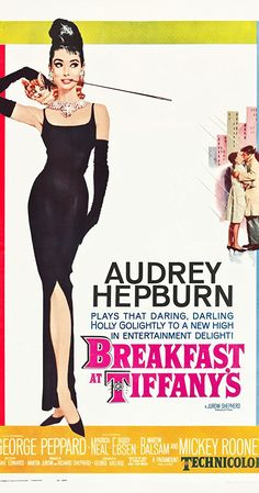 Directed by Blake Edwards. With Audrey Hepburn, George Peppard, Patricia Neal, Buddy Ebsen. A young New York socialite becomes interested in a young man who has moved into her apartment building, but her past threatens to get in the way.