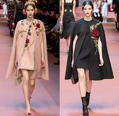 Dolce + Gabbana 2015-2016 Fall Autumn Winter Womens Runway Catwalk Looks - Milano Moda Donna Collezione Milan Fashion Week Italy Camera Nazionale della Moda Italiana - Family Mother Mom Mama Mamma Maman Flowers Florals Botanical Embroidery Jewels Bedazzled Metallic Jacquard Silk Rollneck Lace Cape Furry Outerwear Coat Drawings Illustrations Scarf Pop Art Gown Crown Headphones Patches Babies Infant Cargo Pockets