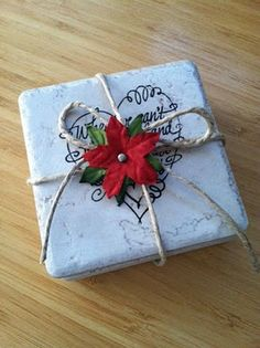 cute coaster tutorial! such an easy project!!   @Heather Schumacher you could do this!
