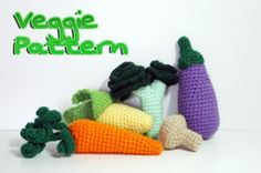 Pattern Valuable Veggie - Crochet Play Food PDF - 5 Patterns in 1