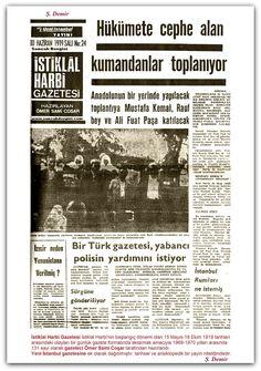10.06.1919 İstiklal Harbi Gazetesi İstiklal Harbinin başlangıç dönemi olan 15 Mayıs-18 Ekim 1919 tarihleri arasındaki olayları bir günlük gazete formatında aktarmak amacıyla 1969-1970 yılları arasında 131 sayı olarak gazeteci Ömer Sami Coşar tarafından hazırlandı. Yeni İstanbul gazetesine ek olarak dağıtılmıştır. tarihsel ve ansiklopedik bir yayın niteliğindedir.
