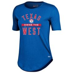 Women's Texas Rangers Under Armour Royal 2016 AL West Division Champions 2 Performance T-Shirt