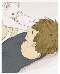 Tachibana Makoto & a kitty   ISC   anime