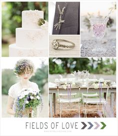 Vintage Lavender + Bohemian Inspired Wedding Ideas...I love the dried herbs tied to the back of the chairs!