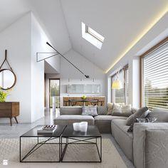 EKONOMICZNY 2 - zdjęcie od DOMY Z WIZJĄ - nowoczesne projekty domów - Salon - Styl Skandynawski - DOMY Z WIZJĄ - nowoczesne projekty domów