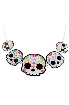 Punky Pins - Sugar Skulls Necklace