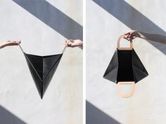 Building Block has delivered once again with their AW 2013 collection. Los Angeles sister duo, Kimberly and Nancy Wu, has launched yet another line to. Building Block Bag, Leather Craft, Leather Bag, Wooden Bag, Origami Bag, Cute Bags, New Bag, Leather Working, Fashion Bags