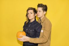 Comedians Cameron Esposito And Rhea Butcher Survive A Round Of Rapid Fire Questioning Cameron Esposito, Twenty Questions, Androgynous, Comedians, Lgbt, Survival, Beautiful Women, Couples, Photography