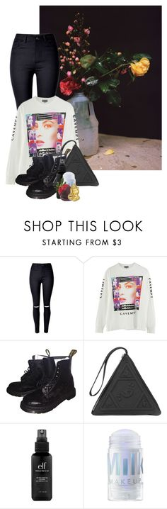 """""""Untitled #952"""" by jaykitten123 ❤ liked on Polyvore featuring WithChic, Dr. Martens, UNIF and e.l.f."""