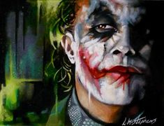Joker Interrogates by sullen-skrewt.deviantart.com #batman #tdk   ( favourite painter )