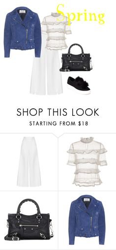 """""""spring outfit 2"""" by jkajsa on Polyvore featuring Miguelina, Balenciaga, Acne Studios and Steve Madden"""