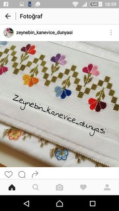 This Pin was discovered by Klá Funny Cross Stitch Patterns, Cross Stitch Borders, Cross Stitch Flowers, Cross Stitch Designs, Hardanger Embroidery, Cross Stitch Embroidery, Embroidery Patterns, Hand Embroidery, Swedish Weaving