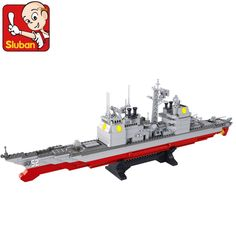 38.46$  Buy here  - model building kits compatible with lego city warship 1084 3D blocks Educational model & building toys hobbies for children