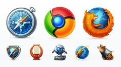 Web Browsers Icon Set Graphics Browser icons are particular useful for showing browser support for your websites, web applications by Web Icon Set Android App Icon, Stock Icon, Browser Support, Best Icons, Internet Explorer, Web Browser, Web Application, Icon Set